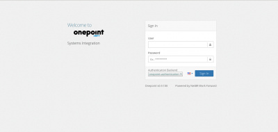 Onepoint Login Screen
